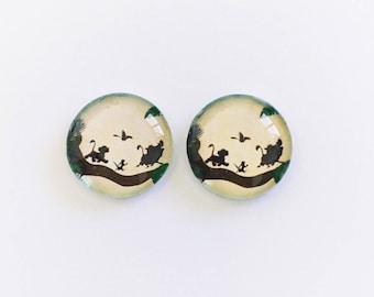 The 'Hakuna Matata' Glass Earring Studs