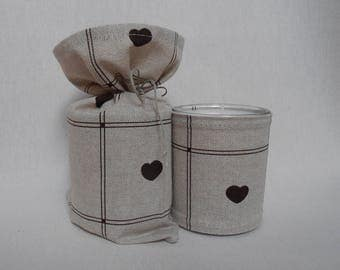 Vanilla scented with extracts of perfume, cotton and linen black heart