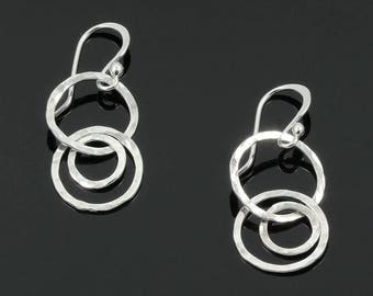 Handmade Hammered Circles Earrings
