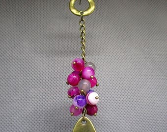 Earrings agate beads.