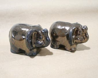Ceramic elephants, Bronze Elephant, Ceramic Miniature, elephant figurine, statuette elephant, sculptures of animals, small sculpture