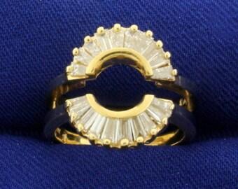 1ct TW Baguette Diamond Ring Jacket in 14k Gold