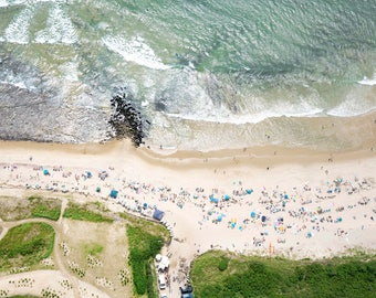The Hamptons: 'The Ditch Witch'  - Ditch Plains Beach // Aerial Beach Photography // Custom sizes available