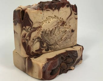 Coffee and Cream Goat Milk Soap - Coffee Lovers Dream - Handcrafted Soap - Gift for Him or Her - Handmade - Bath and Beauty