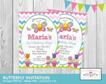 Butterfly Birthday Invitation,Birthday Invitation, Printable Birthday Party Invitation,Party Invitation, Butterfly Birthday Invite