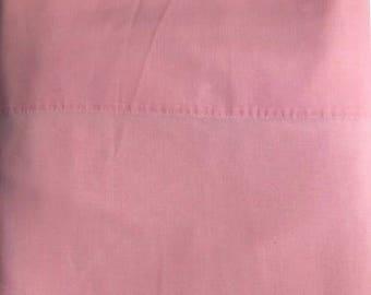 Vintage Pink Wamsutta King Flat Sheet // 1970's