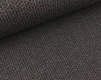 Hamburger Love glam big knit Anthracite mottled-black (23.90 EUR/meter)