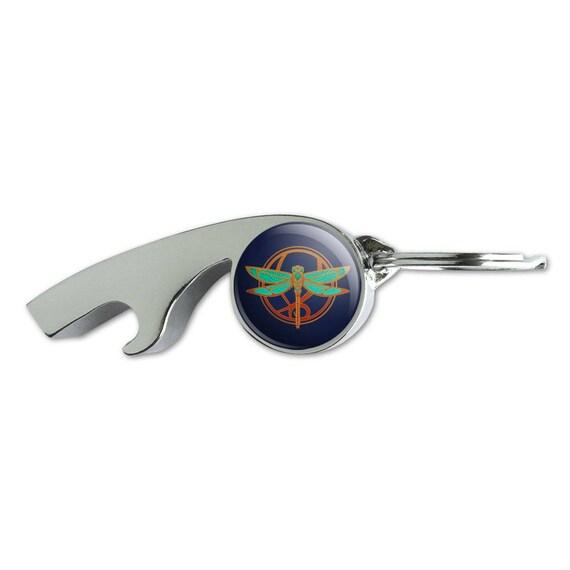 dragonfly elegant chrome plated metal whistle bottle opener. Black Bedroom Furniture Sets. Home Design Ideas