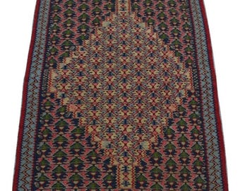35% OFF Final sale Stunning handwoven Persian Senneh kilim / tribal