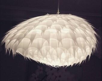 """Pendant/chandelier """"Pebble"""" transparent tracing paper"""