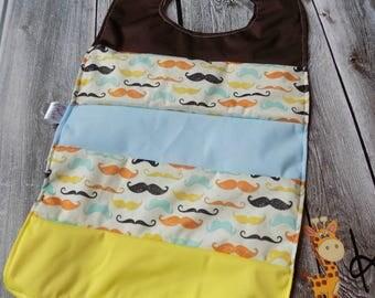 Mustache Waterproof bib, Baby Accessory , Baby Shower gift, Oversize bib, No mess bib