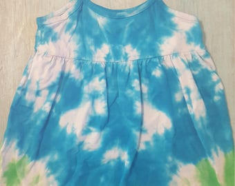 Handmade tie dyed toddler dress size 2