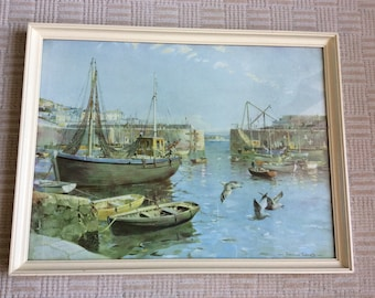 Mousehole Harbour by Vernon Ward