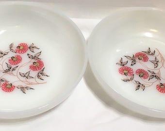 Two Fleurette Fire King Soup Bowls