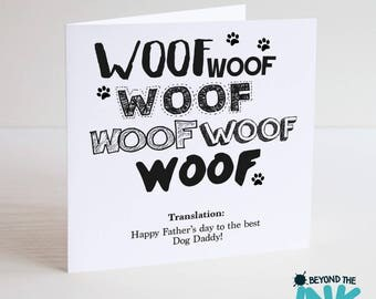 Fathers Day From The Dog Card - Happy Fathers Day To The Best Dog Daddy