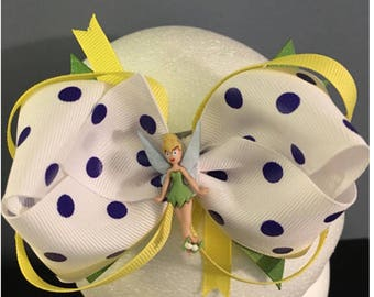 Tinkerbell hair bows