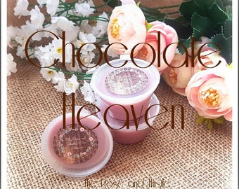 Chocolate Heaven Soy Wax Melt Shot Pot. Sweet Scent. Food Scent. Sweet Wax Scent. Gift For Her. Candle Gift. Chocolate Scent.