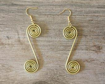 Brazilian Golden Grass Earrings / Organic Jewelry / Brincas Capim Dourado / Brincas Oro Vegetal