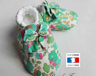 Liberty Betsy turquoise baby booties