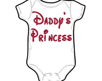 Embroidery File 5x7: Daddys Princess