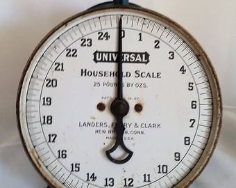 Antique Universal Household Scale Made by Landers, Frary & Clark, New Britain, Conn.
