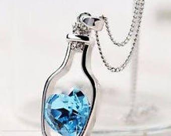 Ciondolo cuore Hearth bottle necklage