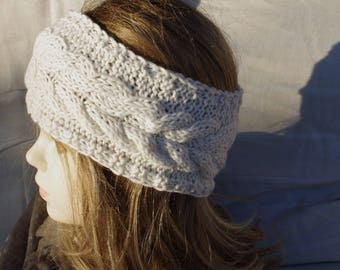 Cream-coloured Merino headband