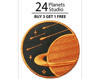 Saturn#3 Planet Iron on Patch by 24PlanetsStudio