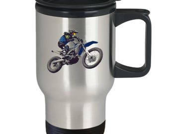 MOTORCYCLE Travel Mug! Are You Ready For A Ride? Biker / Motorcycle Rider Gift Insulated Stainless Steel Travel Coffee Mug With Lid