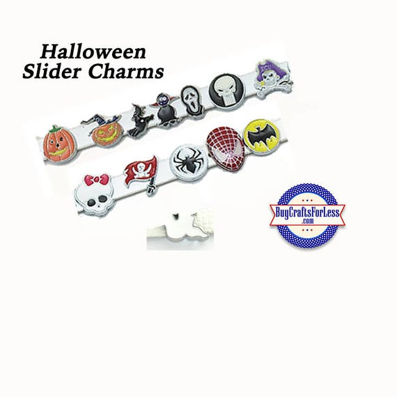 HALLOWEEN SLiDE 8mm Charms,PiRATES,GHoSTS, more - for 8mm Slider Bracelets, Collars, Key Rings, 13 Styles! +FREE Shipping & Discounts*
