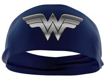 Wonder Woman HeadBand   Yoga Headband   Workout Headbands   Running Headband   Wide Headband   HeadWrap   Womens Headband   Turban Headband