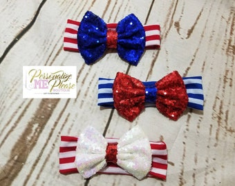 Forth of July Sequin Headband