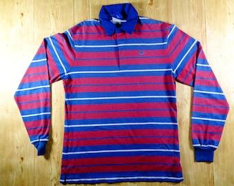 On Sale! Vintage 90s NIKE Sportwear USA Rugby Polo Shirt Long Sleeve Large