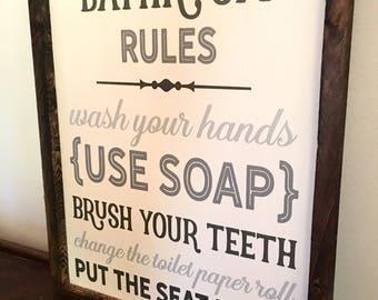 Exceptionnel Bathroom Wall Decor   Bathroom Decor   Bathroom Sign   Bathroom Wall Art