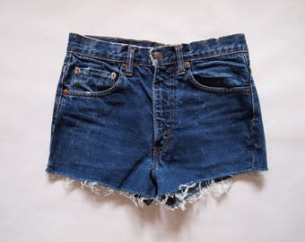 Vintage big E LEVI'S cut off jeans