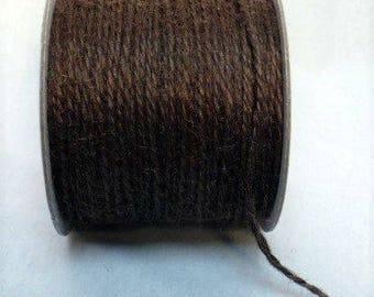 Brown jute cord 2 mm x 100 yards