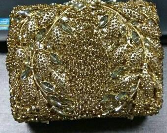 Gold clutch,Crystal clutch, Wedding clutch, Bridal clutch, Evening clutch, clutch, Party clutch, Womens clutch, bridesmaid clutch, clutches