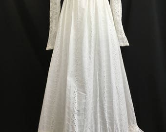 70's Gunne Sax by Jessica Bohemian Country Bride Maxi Dress