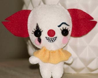 "mini peluche Clown ""ça""/ ""it""/ Pennywise Stephen King"