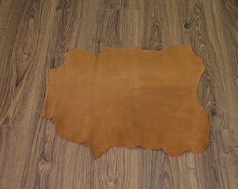 Caramel lambskin leather with velvet finish (2017080718)