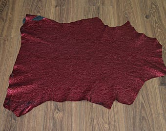 Leather skin of dark red metallic (2017081013)