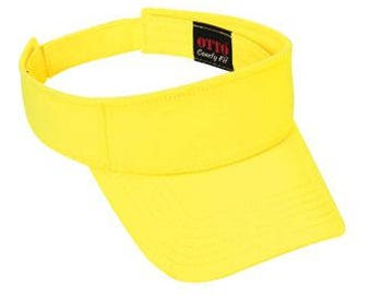 OTTO Comfy Cotton Jersey Knit Sun Visor (Color-Lt. Yellow)