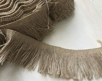 Fringe 6 cm wide natural linen