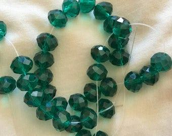 Emerald Green Crystal bead