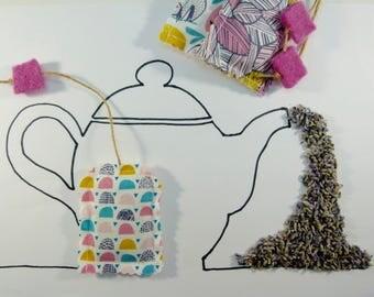 "Lavender ""tea bag"" sachets, Lavender sachets, Organic lavender sachets, Lavender pillows, Aromatic sachets,"