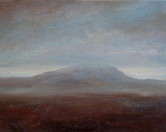 Pen-y-ghent oil sketch by Kyla Dante