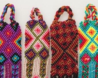 """Mexican Friendship bracelet set / 1"""" wide / Chiapas / Maya bracelet / boho gypsy hippie bracelet / friendship bracelet woven / set of 6 piec"""