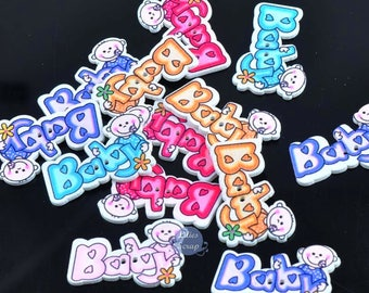 8 Baby 3.5 cm - 2 holes wooden buttons