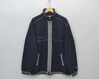 CHAMPION Track Top Vintage 90's Champion Products Track Top Zipper Jacket Sweater Size XO JASPO (L)