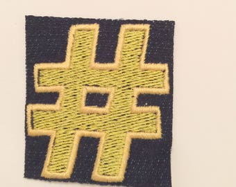 Hashtag Embroidered Patch